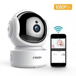 Babyphone WLAN IP Kamera FREDI Überwachungskamera 1080P HD WiFi Baby Camera Monitor,Cloud Speicherung,Baby Weint,Nachtsicht mit Bewegungserkennung Indoor - 1