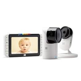 Kodak Cherish C525 Baby-Monitor + C120 Baby Camera mit Mobile App, WiFi-Kamera mit Pano/Schwenken/Zoomen, 5 Zoll HD-Display, hochauflösende Kamera, bidirektionales Audio, Nachtsicht - 1